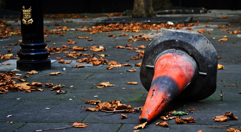 Fallen-traffic-cone